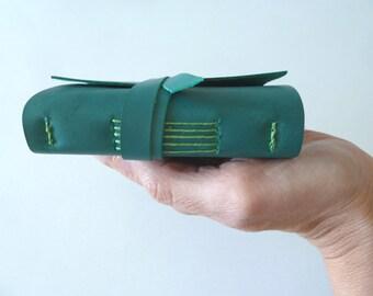 Pocket Leather Journal, Teal
