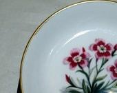 Vintage Royal Worcester Bone China Trinket Dish in the Alpine Flower series.