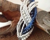 Multistrand ,  bracelet beach wedding bracelet,Bridesmaids gifts ,Bracelet, Multistrand, Nautical Bracelet,Wedding jewelry, Bridal
