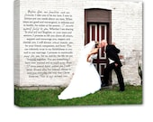 Personalized Gift Your Photo and words, text, poem or lyrics on custom personalized canvas 24X24