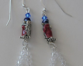 GNOME Earrings - Sterling Silver French Earwires -