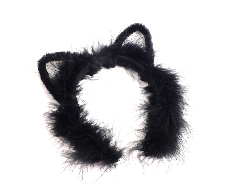 black cat ears headband halloween costume headband by picklebug