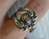 Antique Spoon Ring, Silver Pattern: Oxford