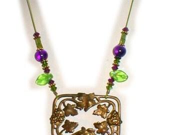 Artisan Necklace Set  - Art Nouveau Center Piece