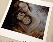 Linger, archival signed motherhood print from an acrylic painting by Katie m. Berggren