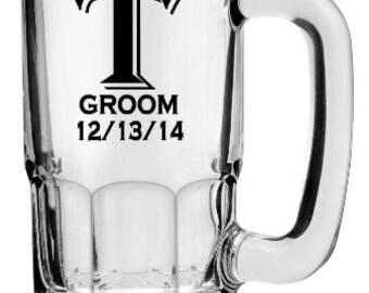 Beer Stein Decals, Personalized Monogram Beer Stein Decals, Wedding Party Glass Decals