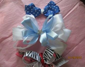 Bow Wardrobe  3 Bows  Little Girl Bows