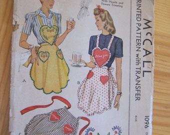 mccall apron pattern 1096
