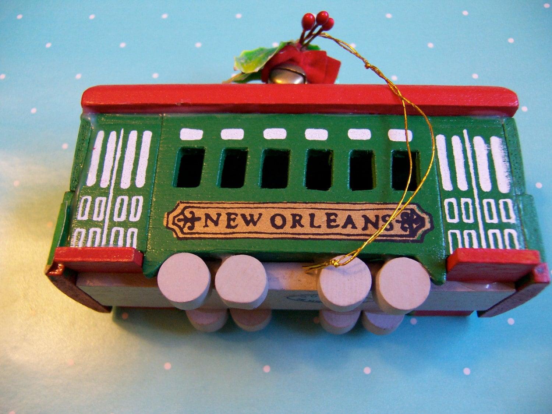 kurt s adler new orleans trolley ornament. Black Bedroom Furniture Sets. Home Design Ideas