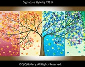 """Giclee Print,  fine art giclee prints original painting wall art wall decor """"365 Days of Happiness"""" by QIQIGallery"""