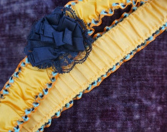 Vintage Canary yellow wedding garter