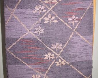 Woven Textured Purple Japanese Obi