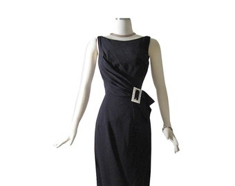 50s Lilli Diamond Wiggle Cocktail Dress // DEADSTOCK! S