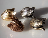 Small Tulip Bead Cap in Matte Gold, Antique Copper, Antique Brass or Antique Silver  11x9mm (4)