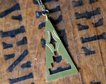 Pyramid Star Necklace