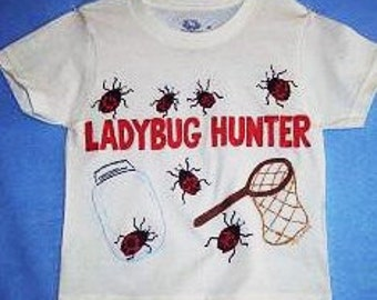 Ladybug Hunter Shirt, Ladybug Shirt, Girls Ladybug Shirt, Girls Clothing, Lady Bug Shirt