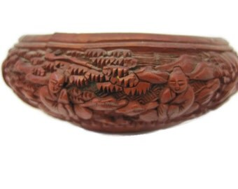 Chinese Antique Cinnabar Bowl