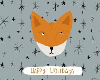 Happy Holidays Fox Card cc112