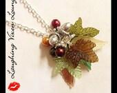 Fall Necklace - Fall Jewelry - Autumn Jewelry - A Tree In Autumn Necklace - Leaf Necklace - Leaf Jewelry - Thanksgiving Jewelry