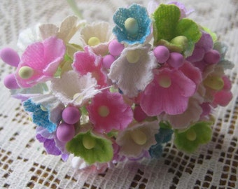 Millinery Flowers Forget Me Nots In Bright Mix 1 Bouquet