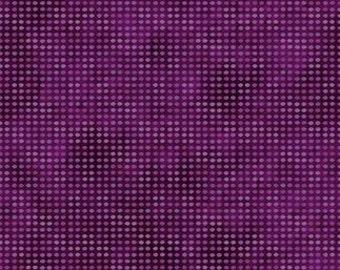 Dit Dot Flannel Purple Jason Yentner Fabric 1 yard