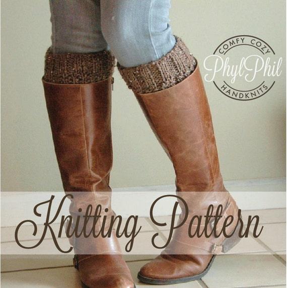 Knitting Pattern Boot Cuff Pattern Reversible Knit Boot