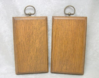 Oak Plaque Blank Set of 2 - Finished and Ready to Hang - Just add your artwork
