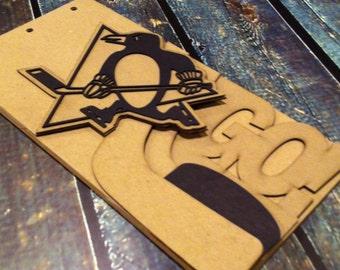 Hockey Scrapbook - PITTSBURGH PENGUINS - custom Sport scrapbook chipboard album BLANK - 6pg