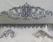fleur de lis, bed crown , bed canopy, french room decor,