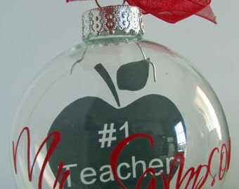 Personalized Teacher Holiday Ornament
