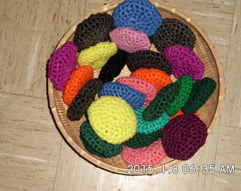 Scrubbies, made from net