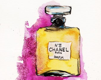 Chanel No 5  Print of Original Watercolor Illustration