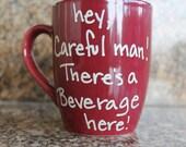 """Hand Lettered Mug """" Beverage here"""""""