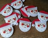 Santa embellishments stickers santa felt stickers Christmas craft supplies kids crafts supplies felties Christmas stickers