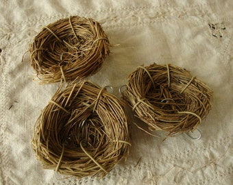 """Mini bird nests embellishments 3"""" mini twig floral supplies  nests cottage craft projects natural home decor twigs bird decorations"""