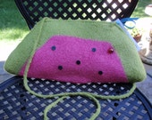 Felted Watermelon Clutch Handbag