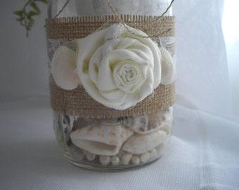 Mason Jar Burlap And Lace Rustic Party Event Decoration Bridal Shower Wedding For DIY Centerpiece Mason Jar Or The Container Of Your Choice
