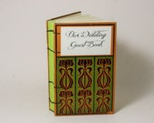 Boho Style Wedding Guest Book Vintage Inspired