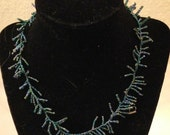 Iridescent mini-fringe necklace