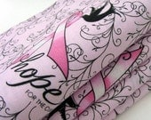 Wings of HOPE for the Cure Napkins / Pink Breast Cancer Awareness Napkins / Pink, Black, White Napkins / Set of 4 / Gift Under 35