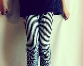 Girls Stripe Leggings 5T