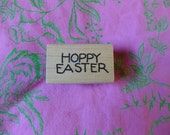 Hoppy Easter Happy Easter Rubber Stamp