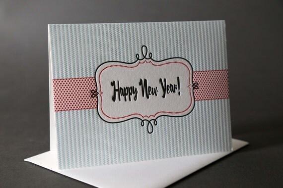 "Retro Frame ""Happy New Year"""