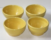 Sunny Yellow Bowls Set of Four Stoneware Made to Order Hold about One  Cup