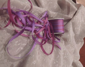 Gorgeous variegated purple and plum 4mm silk ribbon
