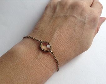 Crystal Bronze Bracelet