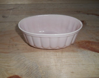 Shabby Chic  Light Pink Pottery oblong bowl or planter