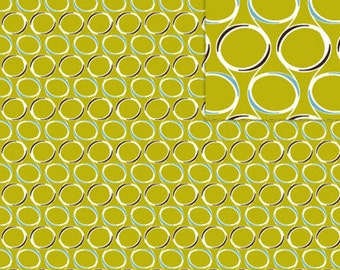 Clearance 1 yard Organic Daisy Janie Geo Grand Crystal Ball Fabric
