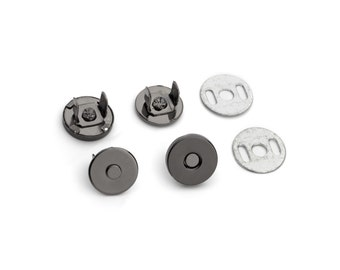 100 Sets Magnetic Purse Snaps - Closures 10mm Black Nickel - Free Shipping (MAGNET SNAP MAG-106)