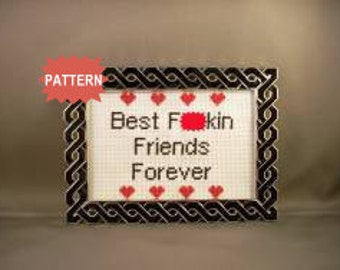 PDF/JPEG Best F-ckin Friends Forever (Pattern)